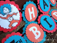 Thing 1 & Thing 2 Birthday Banner