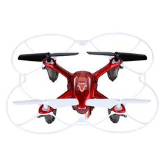 Syma X11C - Drone Cuadricópteros Quadcopter (4 Canales, 6 Ejes, Cámara 2 Mp, 360 Grados, 2.4G, LED Colorido), Rojo - http://www.midronepro.com/producto/syma-x11c-drone-cuadricopteros-quadcopter-4-canales-6-ejes-camara-2-mp-360-grados-2-4g-led-colorido-rojo/