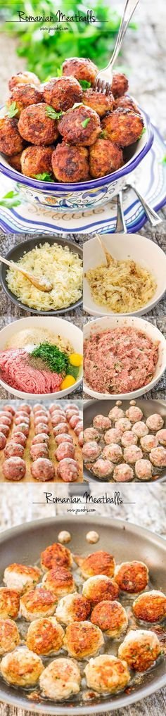 Low Unwanted Fat Cooking For Weightloss Romanian Meatballs, Known As Chiftele Are One Of The Most Popular Romanian Dishes. Figure out how To Make The Mother Of All Meatballs, Nothing Beats These Meatballs. I Love Food, Good Food, Yummy Food, Healthy Food, Tasty, Pork Recipes, Cooking Recipes, Comida Diy, Comida Latina