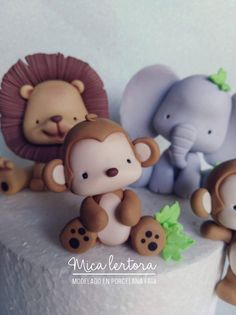 Cold Porcelain, Clay Crafts, Biscuit, Fondant, Woodland, Teddy Bear, Craft Ideas, Baby Shower, Cakes