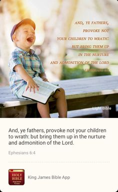 Holy Bible King James, Ephesians 6, Bible App, Children, Kids, Need To Know, Verses, Families, Life Hacks