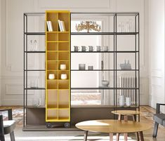 Literatura Open-Punt Mobles-Vicent Martínez simple organization that displays form Shelving Design, Shelving Systems, Shelf Design, Cabinet Design, Storage Shelving, Steel Furniture, Cabinet Furniture, Cool Furniture, Modern Furniture