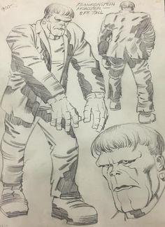 Jack Kirby's monster of Frankenstein. Comic Book Artists, Comic Books Art, Frankenstein Art, Comic Party, Jack Kirby Art, Jack King, Strange Tales, Western Comics, Comic Book Collection