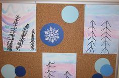 zimní stromy  - leden 2016