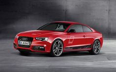Audi A5 Coupe, 2016, a5 red, sports coupe, red Audi, DTM