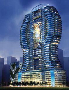The ISM Parinee Ohm Tower in Mumbai with glass-walled balcony pools. I would love to swim in one of these!