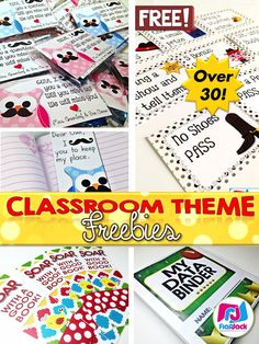 FlapJack Classroom Theme Freebies List - Are you looking for some classroom theme ideas? This list of over 30 classroom decor freebies can help you decide on that perfect class theme! The list will be updated periodically with new class theme and color scheme freebies, so be sure to bookmark or save the freebie link included inside this resource. And pass it along to any teachers looking for classroom theme ideas!