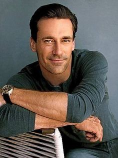 Jon Hamm. He is the closest thing I have seen to Jeremy Brett.  That makes him gorgeous to me.  He doesn't have the voice or the moves but he has the material to be an actor.  Not too long in one spot Jon. JC