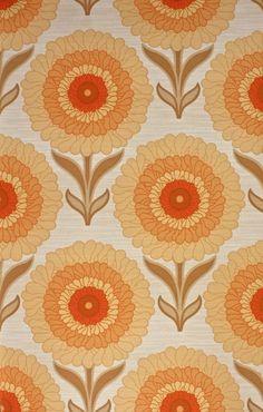 70s Helder Bloemen Behang