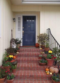 popular colors to paint an entry door | yellow houses, robins and egg