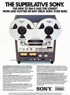 Sony TC-766-2 Reel to Reel Advert (1977)
