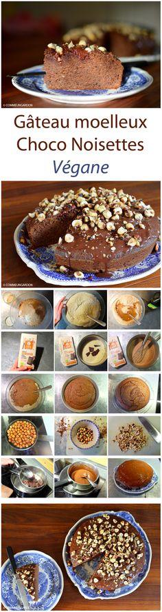 Gâteau moelleux végane chocolat et noisettes rôties, à la farine de châtaigne.