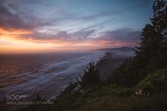 Sunset along the Oregon Coast. by alexbaileypdx  500px Beach Water Lightroom Sky Sunset Oregon Coast Sunset along the Oregon Coast. alexbaileypdx