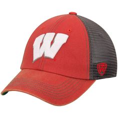 d17620e28e3 Wisconsin Badgers Top of the World Mortar Trucker Hat - Red Charcoal