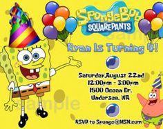 Provo Craft SpongeBob Squarepants Cricut Pinterest Sponge - Birthday invitation spongebob background