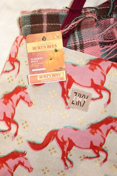 Pumpkin spice lip balm, plaid and a fall hat #pumpkinspice #ad #PSLB