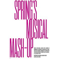 'Spring's Musical Mash-Up' Suvi Koponen by Benjamin Alexander Huseby... ❤ liked on Polyvore featuring text, backgrounds, quotes, tekstovi, words, magazine, phrase and saying