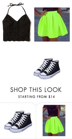 """""""Neon Skirt!"""" by coconutlady-573 ❤ liked on Polyvore featuring Hollister Co."""