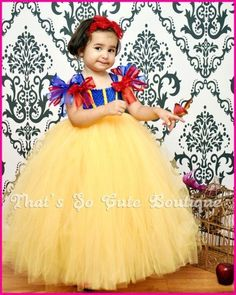 Snow White Inspired Tutu Dress, Snow White Costume, Disney Princess Dress -- amiah needs this! Tutu Princesa Disney, Disney Princess Tutu, Princess Tutu Dresses, Disney Tutu, Little Princess, My Princess, Little Girl Dresses, Flower Girl Dresses, Long Dresses