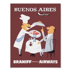 Braniff Buenos Aires 1 Posters