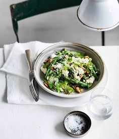 Warm asparagus salad with walnuts, parmesan, lemon and olive oil :: Gourmet Traveller
