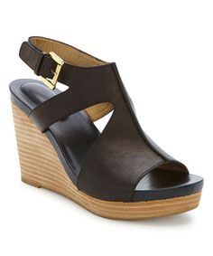 This Black Atlantis Leather Wedge is perfect! #zulilyfinds