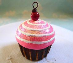 pink cupcake ornament