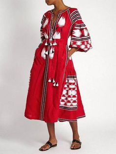 Embroidered Long Red Woman Dress. Vyshyvanka Ukrainian Boho Style Dress.  Rich embroidery. Best girls 0515230981a