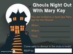 Mary Kay® Halloween Idea Invitations http://www.blog.qtoffice.com/mary-kay-halloween-party-idea/