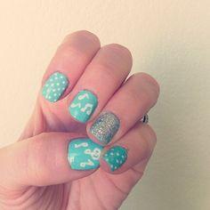 Pale Blue Nails