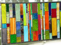 Custom Ordered Stained Glass Window Panel