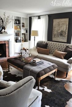 at home dear lille. be inspired by her home and how she has transformed every inch of her home making each corner beautiful Cozy Living Rooms, Living Room Modern, Home Living Room, Living Room Designs, Living Room Furniture, Home Furniture, Living Room Decor, Modern Furniture, Small Living
