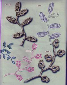 Croche Madona-mía puntos y graficos: Crochet Irlandés gráficos- B