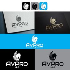 Create a modern pegasus logo for AvPro! by H I D Y S