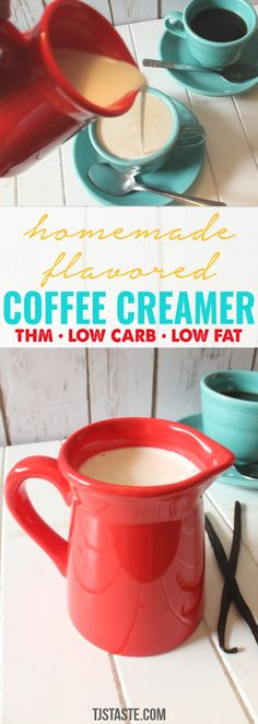 Homemade Flavored Coffee Creamer THM Friendly Homemade Flavored Coffee Creamer via Low Carb Coffee Creamer, Homemade Coffee Creamer, Coffee Creamer Recipe, Fudge, Trim Healthy Momma, Green Coffee Extract, Get Thin, Brunch, Keto Drink