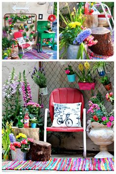 Trash to Treasures Garden Area and a crazy CWTS Update! Garden Whimsy, Garden Junk, Lawn And Garden, Garden Club, Garden Sheds, Outdoor Projects, Garden Projects, Diy Projects, Trash To Treasure
