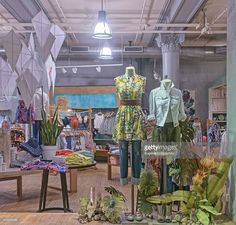 Anthropologie - New York City Windows Display 2015 as Part of the World Fashion Window Displays on May 11, 2015 in New York City.