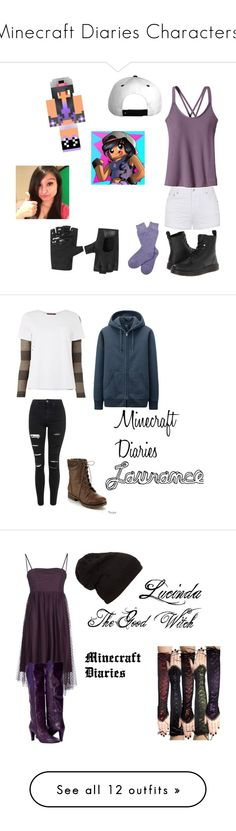 """""""Minecraft Diaries Characters!"""" by benjiedaisy on Polyvore featuring drama, story, fantasy, minecraft, MinecraftDiaries, Patagonia, Ally Fashion, Dr. Martens, Barbour and Eleventy"""