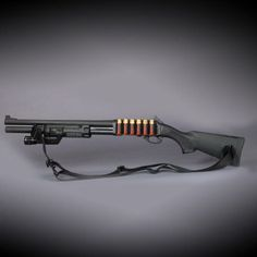 Remington 870 Tactical with Surefire light. Although I'm really into Winchester and Beretta doubles, I believe every home needs one of these and a class to go with it.