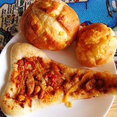 食ログ:DONQとかいうパン屋のコーンパン、チーズパン、メキシカンナン。 久々に走ったというかもうほぼウォーキング。暑すぎる - @mattyinstagram- #webstagram