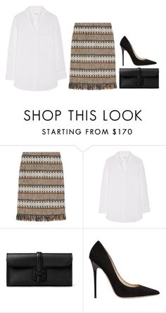 """""""Untitled #29"""" by minimalsimplicity ❤ liked on Polyvore featuring Tory Burch, Equipment and Jimmy Choo"""
