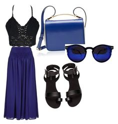 """""""bluer than blue"""" by mikai-toot on Polyvore featuring Almost Famous, Marni and H&M"""