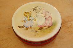 Vintage 50s-60s Tom Kitten Beatrix Potter Tin by SycamoreVintage
