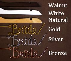 Beautiful Bridal: Personalized Wedding Dress Hangers