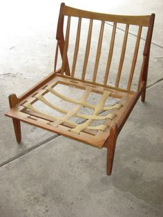 danish chair webbing // redo our chair