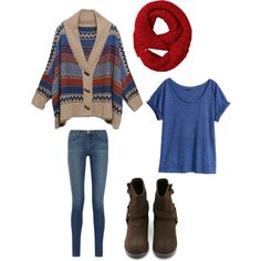 Tribal print fall/winter outfit