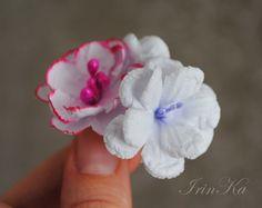 Три разных цветочка. Цветы для скрапбукинга