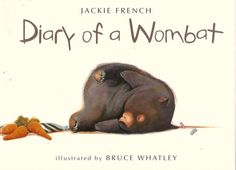 Diary of a Wombat by Jackie French. Reading Level: J Simply-styled, just like the title said: a diary of a wombat. Humorous, and a short read. Mentor Text for diary craft lessons, as well as a reader's strategy of putting themselves in characters' shoes. Good Books, Books To Read, My Books, Amazing Books, Story Books, The Wombats, Australian Authors, Mentor Texts, Australian Animals