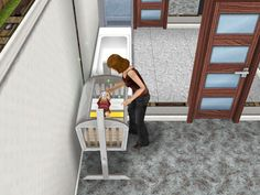 My friend in my game just had a baby