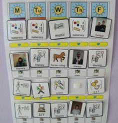 Speech and Language Therapy - class visual timetable